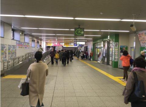 JR日暮里駅北口改札から東口方面