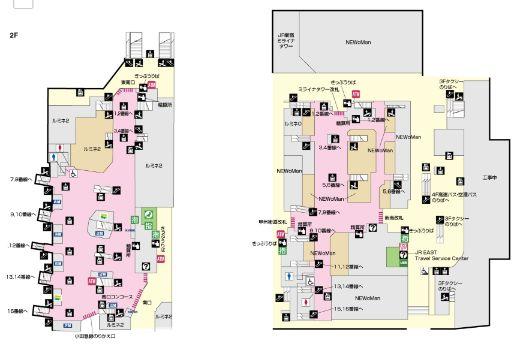 地上2Fマップ(構内図)