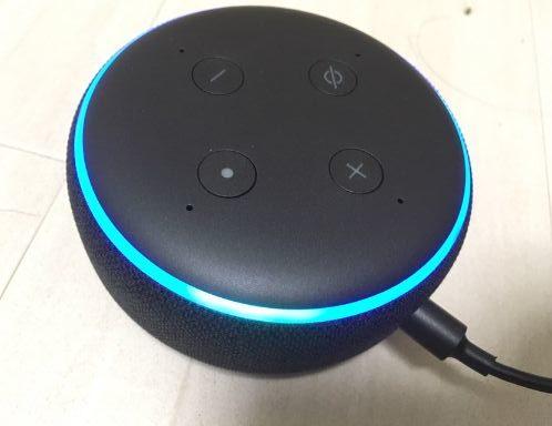 amazon echo dot 設定完了後の状態
