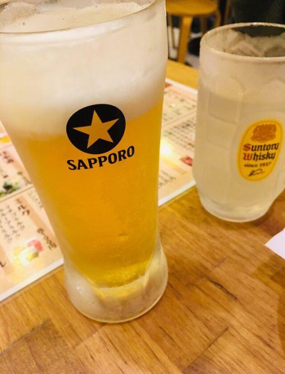 鶏ヤローのビール